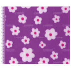 Флис двусторониий Цветочки на фиолетовом