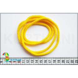 Шнур одёжный с наполнителем 6 мм Желтый