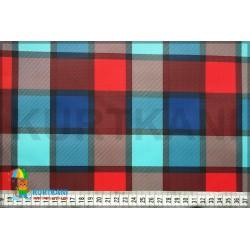 Мембранная ткань 5К/5К Клетка сине-красный