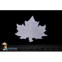 Термоаппликация светоотражающая Кленовый лист