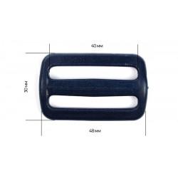 Рамка двухщелевая 40 мм Темно-синий