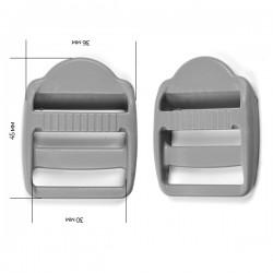Пряжка 30 мм Светло-серый