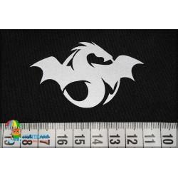 Термоаппликация светоотражающая Эмблема дракона