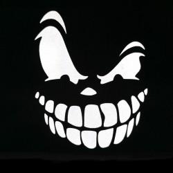 Термоаппликация светоотражающая Зловещая улыбка