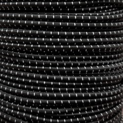 Резинка-шнур 3 мм Черно-белый