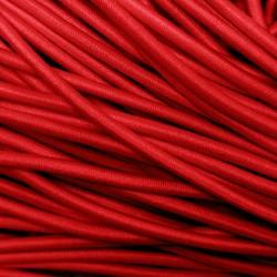 Резинка-шнур 3 мм Тёмно-красный