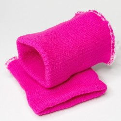 Манжеты Розовый неоновый 6,5 см