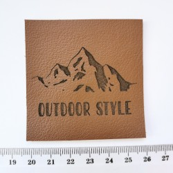 Нашивка кожаная Outdoor style