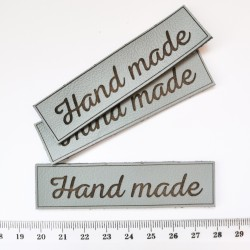 Нашивка кожаная Серый Hand made