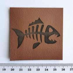 Нашивка кожаная Рыба