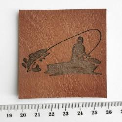 Нашивка кожаная Рыбалка