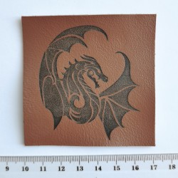 Нашивка кожаная Дракон