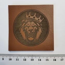 Нашивка кожаная Король лев