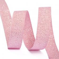 Тесьма киперная люрекс 10 мм Розовый с серебром