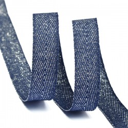 Тесьма киперная люрекс 10 мм Темно-синий с серебром