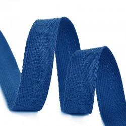 Тесьма киперная 10 мм хлопок Синий