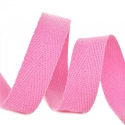 Тесьма киперная 10 мм хлопок Розовый