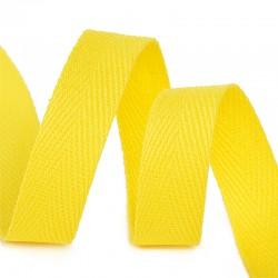 Тесьма киперная 10 мм хлопок Жёлтый