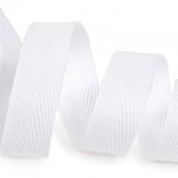Тесьма киперная 10 мм хлопок Белый