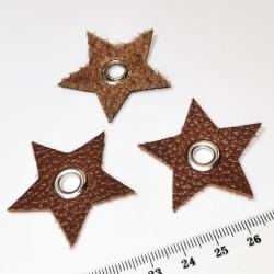 Нашивка с люверсом коричневый Звезда