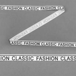 Лента репсовая с надписью CLASSIC FASHION Белый