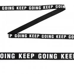 Лента репсовая с надписью KEEP GOING Черный