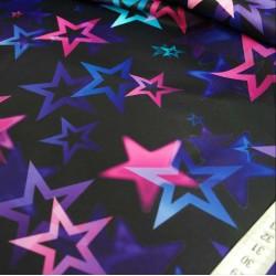 Мембранная ткань 5К/5К Звезды на чёрном