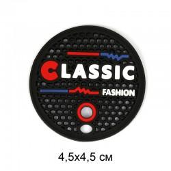 Аппликация пришивная CLASSIC 4,5х4,5см Чёрные соты