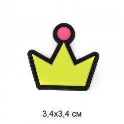Аппликация пришивная Корона 3,4х3,4см