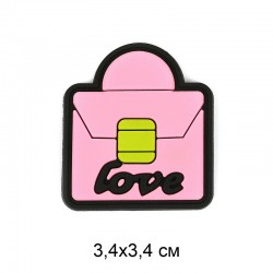 Аппликация пришивная Розовая сумочка 3,4х3,4см