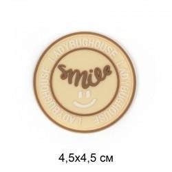 Аппликация пришивная SMILE Бежевый круг 4,5х4,5см